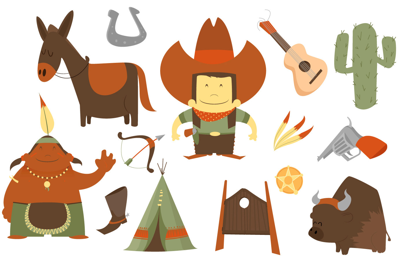 Cowboy clipart free 4 » Clipart Station.