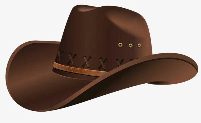 Brown Cowboy Hat, Cowboy Clipart, Graphic Design, Hat PNG.