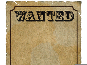 Blank Wanted Poster Clipart.