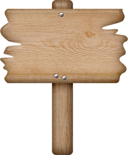 437 Wooden Sign free clipart.
