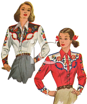 Royalty Free Clipart Image: Vintage Fashion.