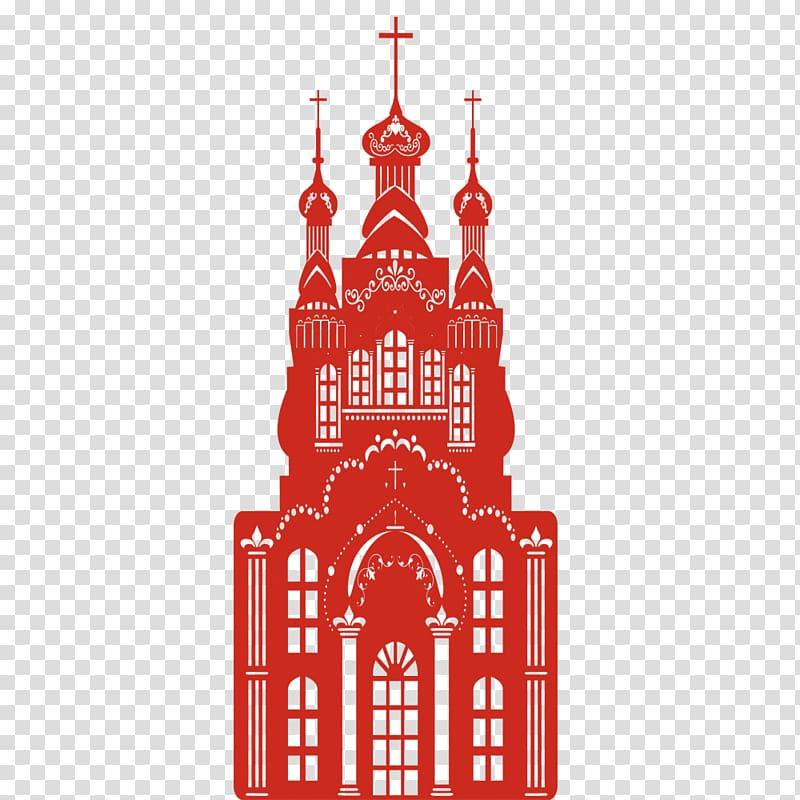 Castle Church, Western Church transparent background PNG.