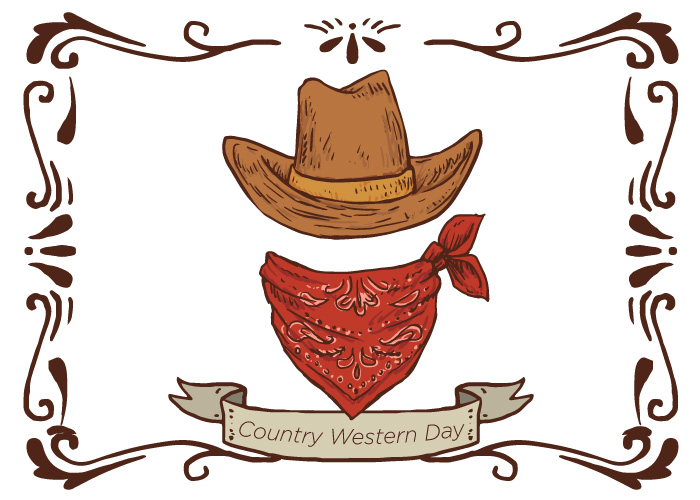 Baked Potato Bar & Country Western Day.