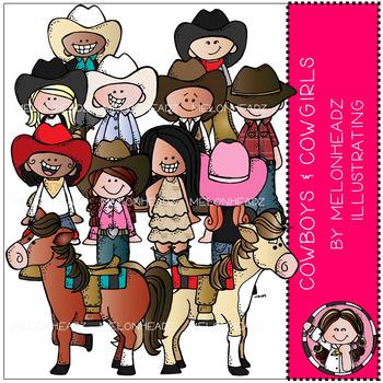 Melonheadz: Cowboy and Cowgirl clip art.