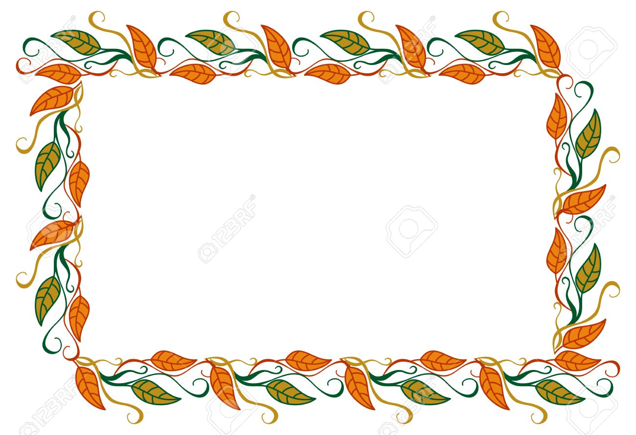 horizontal, color, decorative, leaves, Vector, 'clip art', art,...