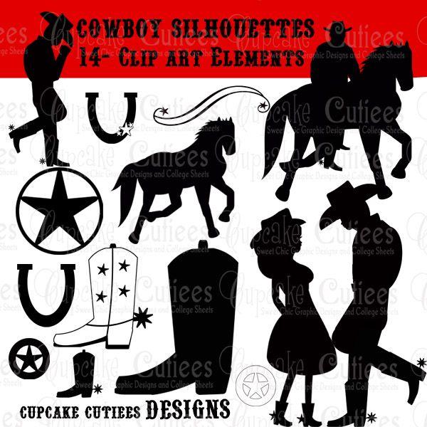 Cowboy N Cowgirl Silhouette.