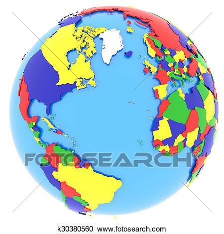 Western hemisphere on Earth Clipart.