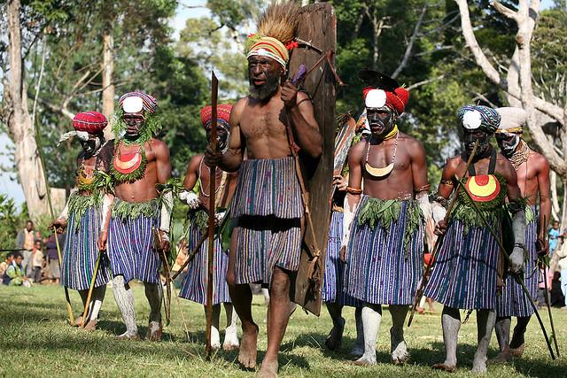 Tribal Warriors, Paiya Village, Western Highlands, PNG.