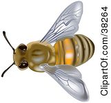 Clipart Illustration of a Flamboyant Honey Bee Dancing And Flying.