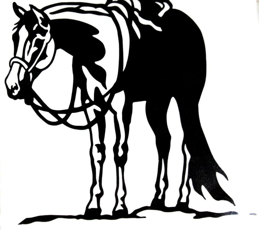 Western Horse Clip Art N4 free image.