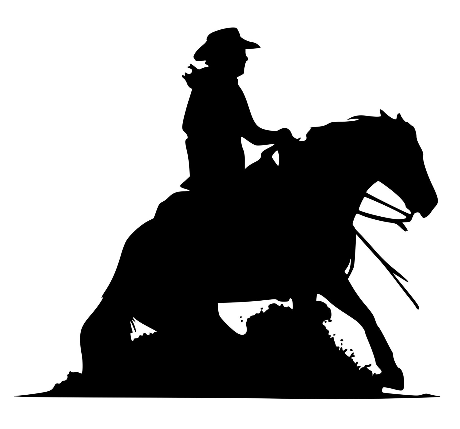 Free Reining Horse Silhouette, Download Free Clip Art, Free Clip Art.