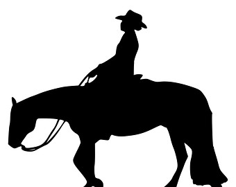 Free Cowboy And Horse Silhouette, Download Free Clip Art.