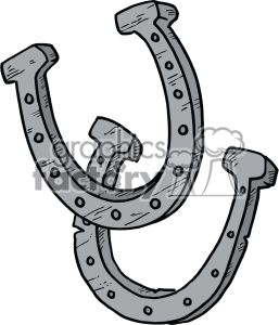 cartoon horseshoes clipart. Royalty.