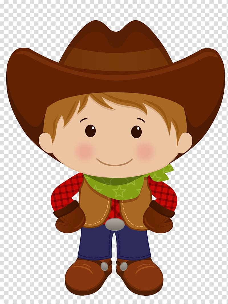 American frontier Cowboy , western transparent background.