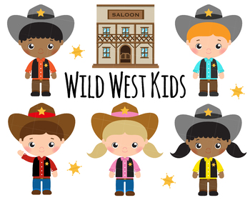 Cute Cowboy and Wild West instant download png, svg vector clipart set.