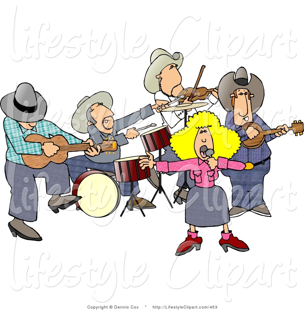 Country Musician Clipart.