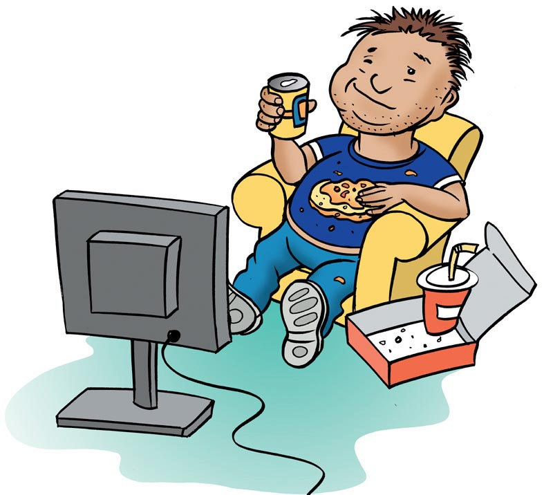 The Illustrator Richard Deverell: Couch potato lifestyle.