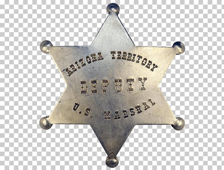 American frontier Badge Arizona US Deputy Marshal United.