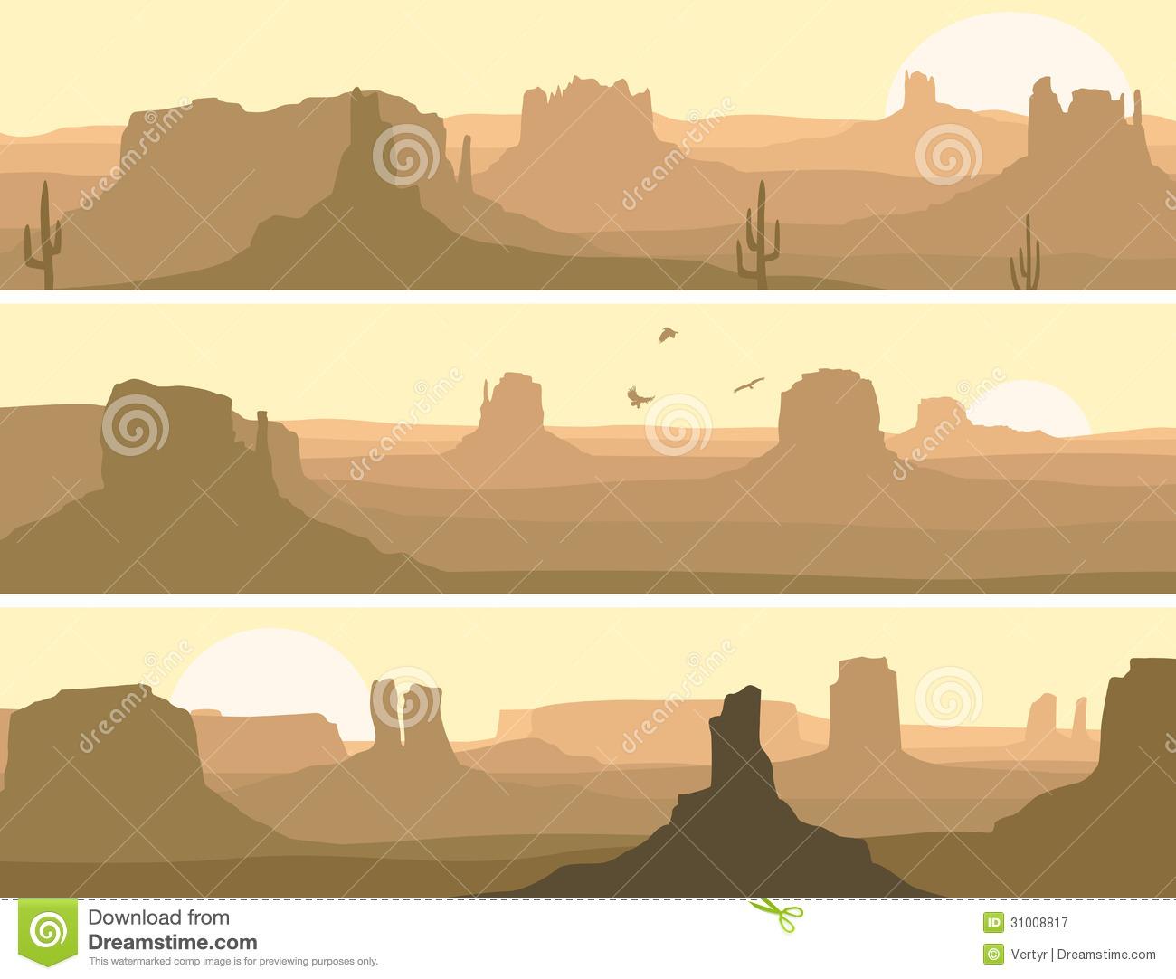 Western Mountain Silhouette.