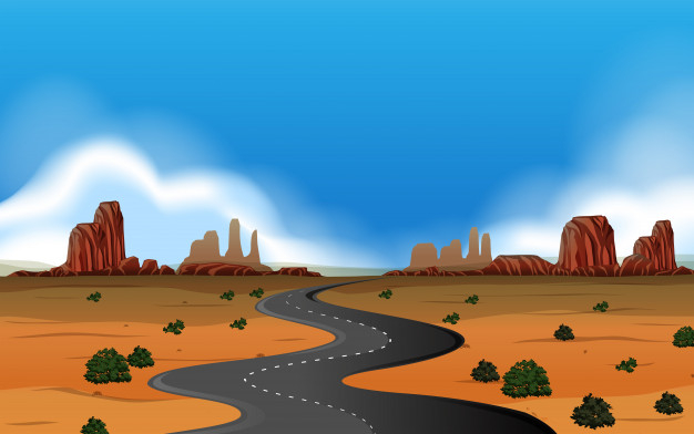A wild west landscape Free Vector.