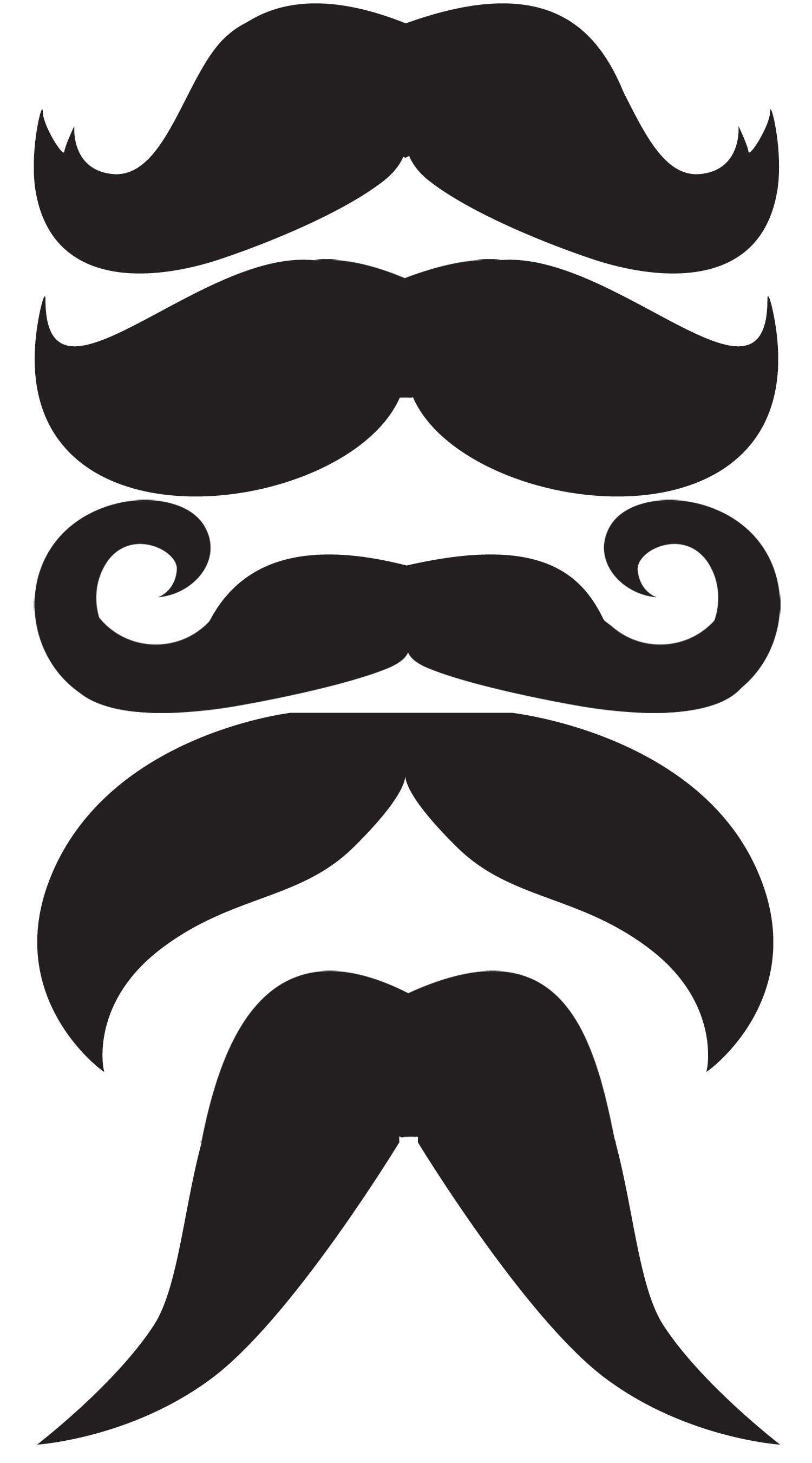 moustache on a stick ….