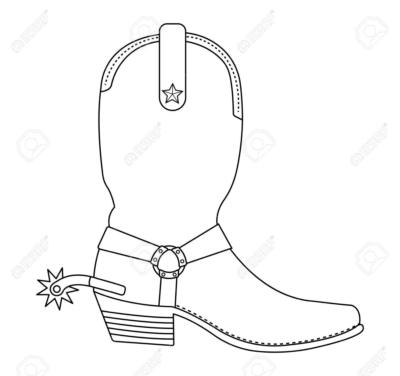 34+ Cowboy Boot Outline Clip Art.