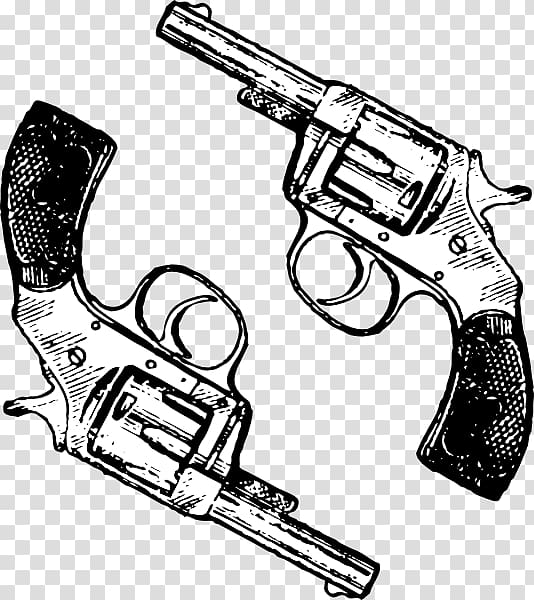 Revolver Firearm Handgun , western pistol transparent.