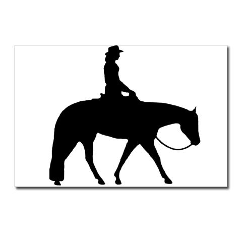 Free Western Pleasure Horse Silhouette, Download Free Clip.