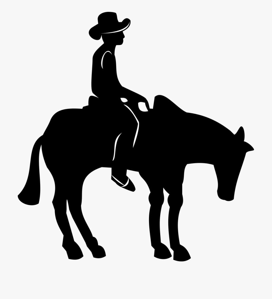 Cowboy Svg Horseback Silhouette.