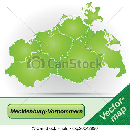 EPS Vectors of Map of Mecklenburg.