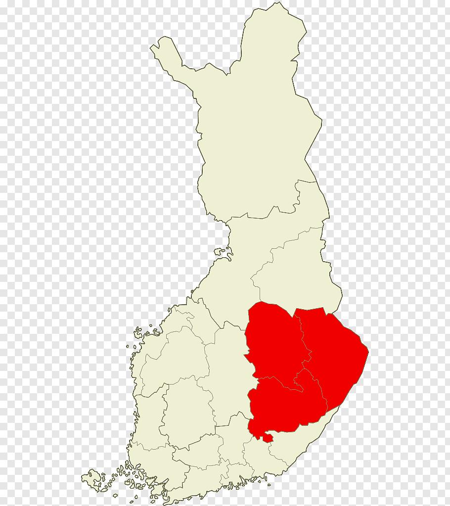 Map, Lieksa, Lapinlahti, Kuopio, Southern Finland Province.