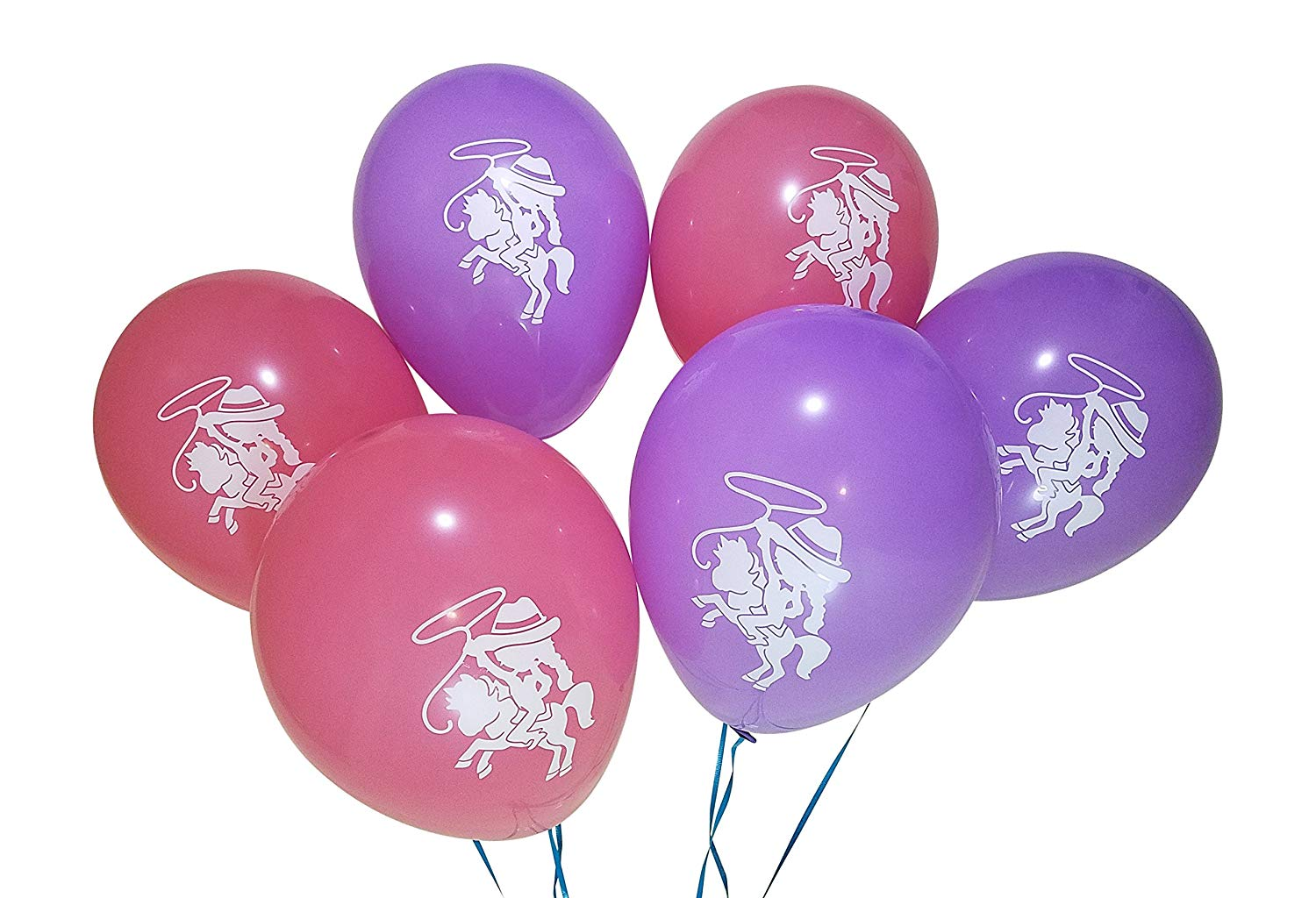 Cowgirl Balloons for Horse, Western Birthday Party.
