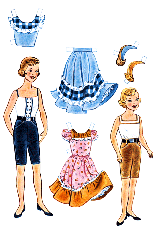 Linda Goes West Ranch Party Paper Dolls.