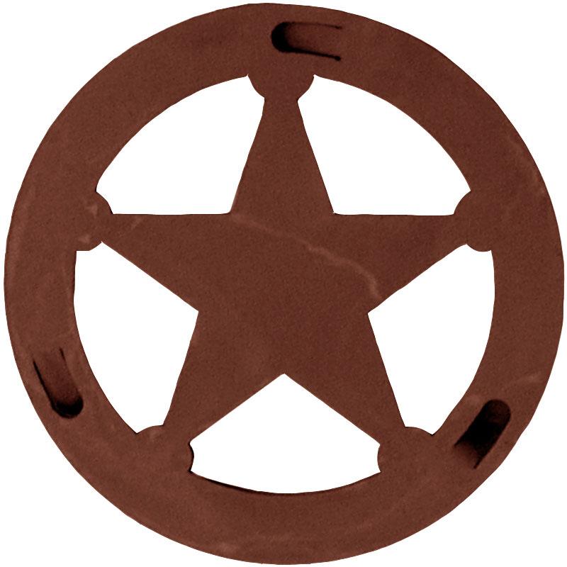 Western star badge clipart.