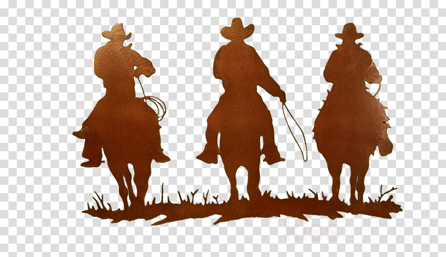 cowboy silhouette outerwear western riding horse clipart.