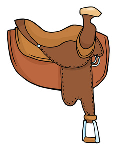 Western Saddle Clipart.