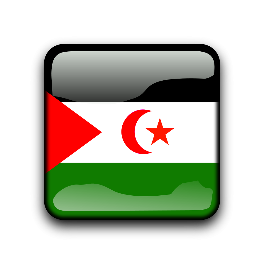 Flag of Western Sahara large 900pixel clipart, Flag of Western.
