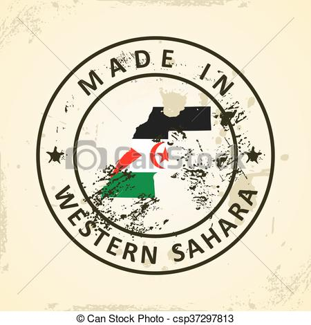 Vector Clip Art of Western Sahara.