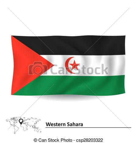 Vector Illustration of Flag of Western Sahara.