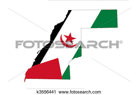 Clipart of Western Sahara k3556441.
