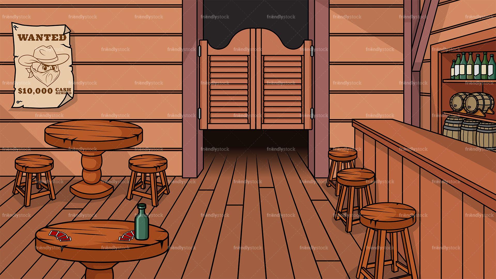 Wild West Saloon Background in 2019.