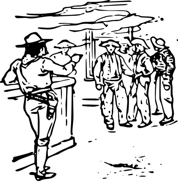 Western Saloon clip art Free vector in Open office drawing svg.