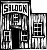Western saloon clip art free.