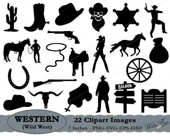 Wild West SVG, Western Clipart, Cowboy SVG, Cowgirl Svg.
