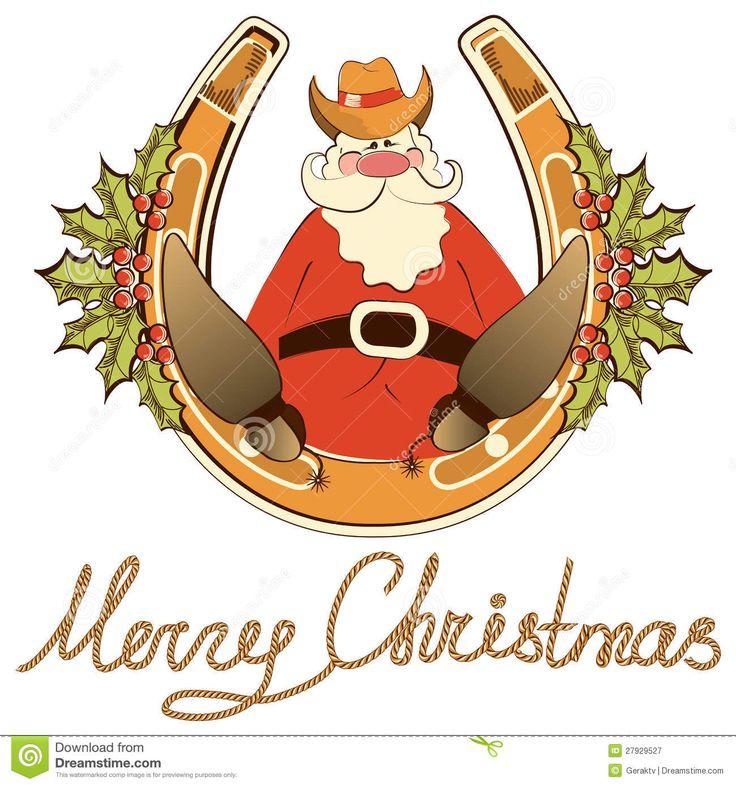 Cowboy Santa Clipart.