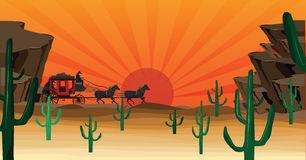 Western Scene Stock Illustrations.