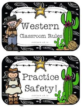 Western Classroom Rules.