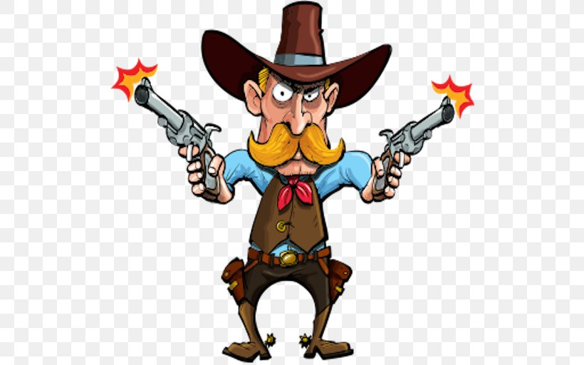Cowboy Cartoon Western American Frontier, PNG, 512x512px.