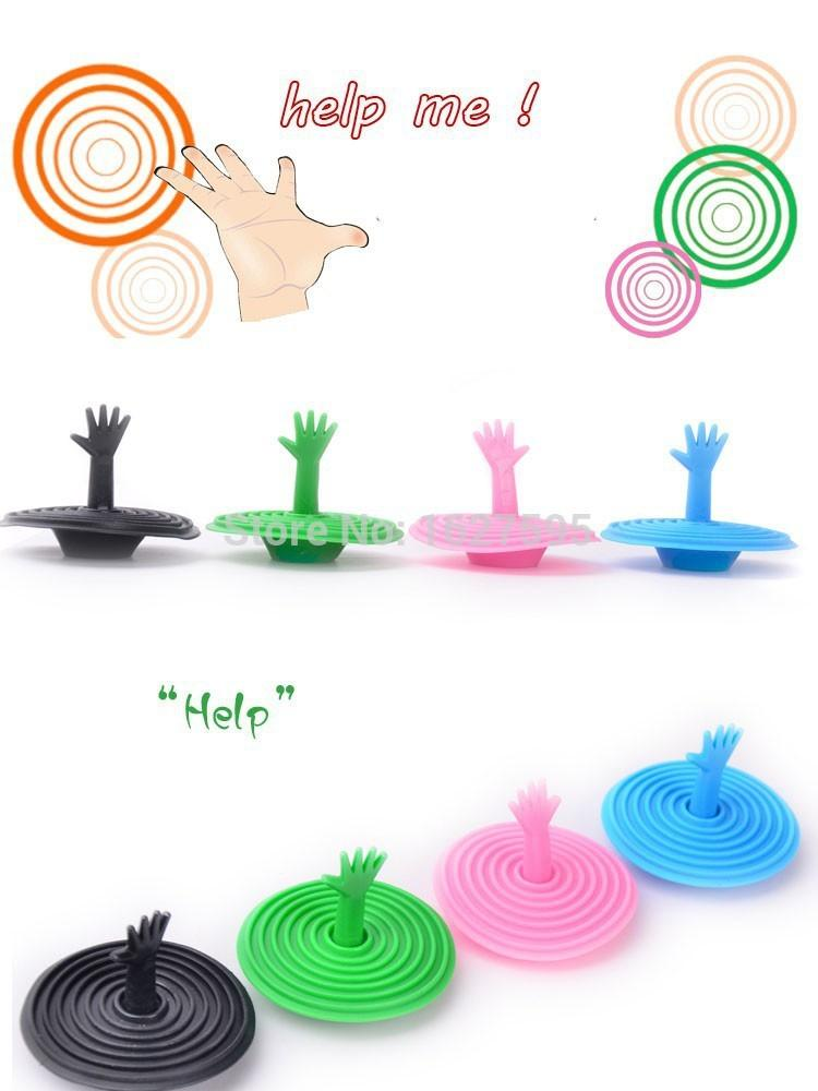 New Hot Washroom Products Lovely Hand Shape Sink Plug Water Rubber.