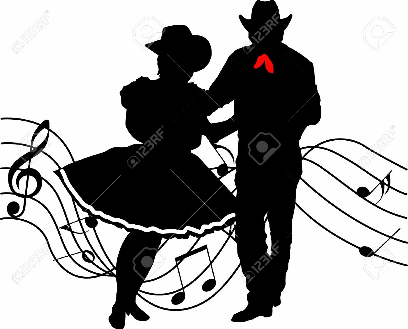 Western Dance Clipart.